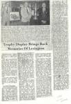 1981 Trophy Display Brings Back Memories Of Lexington Local paper article 8.5″×11″ GC xerox 1