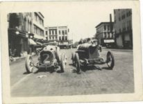 1917 ca. Unknown race cars No. 2 & No. ? 3″×2″ GC snapshot