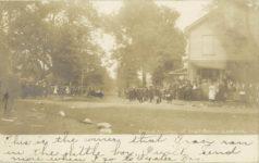 1906 Long Island Vanderbilt Cup Auto Race Car Cornering at East Norwich corner RPPC front