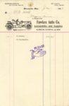 1909 1 1 Fawkes Auto Co. Minneapolis RAMBLER NATIONAL AND REO receipt 5.25″×8.25″