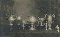 1909 Auto Speed Race Trophies Spokane RPPC front