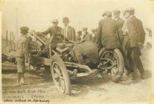 1910 Vanderbilt Cup Columbia — Stone.  Stone killed on Parkway photo 6.5″×4.5″ front