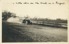 1912 12 7 Just a little spin on the track in a Regal. RPPC front