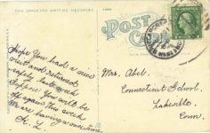 1915 ca. Locomobile Cos Plant, Bridgeport, Conn. postcard back