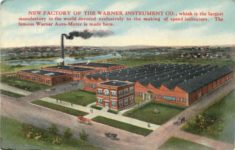 1915 ca. NEW FACTORY OF THE WARNER INSTRUMENT CO. postcard front