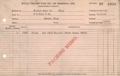 1918 4 17 STUTZ MOTOR CAR CO. OF AMERICA, INC. receipt 9″×5.75″