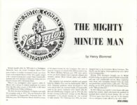 1969 11 12 THE MIGHTY MINUTE MAN by Henry Blommel ANTIQUE AUTOMOBILE November-December 1969 11″×8.5″ page 32