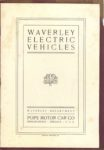 1903 Waverley ELECTRIC VEHICLES POPE MOTOR CAR COMPANY 5.25″×7.75″ page 1