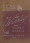 1903 Waverley ELECTRIC VEHICLES POPE MOTOR CAR COMPANY 5.5″×8″ Front cover