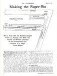 1917 3 15 HUDSON Making the Super Six THE AUTOMOBILE White Triangle News NOVEMBER-DECEMBER 1992 8.5″×11″ page 34