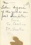 1938 ca. Fern Dale, born 1917 Me – Fort Sumpter, South Carolina snapshot 2.5″×35″ back