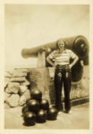 1938 ca. Fern Dale, born 1917 Me – Fort Sumpter, South Carolina snapshot 2.5″×3.5″ front