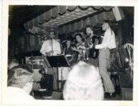 1960 ca. Fern Dale, born 1917 in a band Polaroid snapshot 3.75×3″