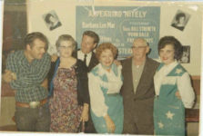 1960 ca. Fern Dale, born 1917 with Barbara Lee Mac on right snapshot 3.25″×2″