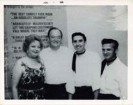 1966 7 Fern Dale, born 1917 with Hubert H. Humphrey and two guys July 1966 snapshot 4″x3″