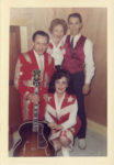 1958 ca. Fern Dale, born 1917 with Little Jimmy Dickens and two snapshot 3.5″×5″