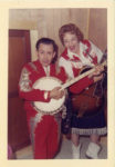 1958 ca. Fern Dale, born 1917 with Little Jimmy Dickens snapshot 3.5″×5″