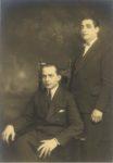 1915 ca. Presumably Paul and Kingsley Murphy seated The Miller Studios Minneapolis 9″×13″