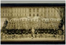 1916 2 1 THE GOLDEN RULE Band St Paul Winter Carival in front of Minnesota State Capitol RANDOLPH PHOTO