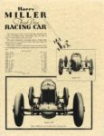 1929 ca. Harry MILLER Front Drive RACING CAR repro 8.5″×11″ back