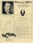 1929 ca. Harry Miller Engines and Cars Harry A. Miller at Indianapolis repro 8.5″×11″ page 11