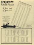 1929 ca. Harry Miller Engines and Cars SPEEDWAY World's Records Class and Open repro 8.5″×11′ page 10