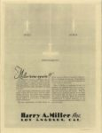 1929 ca. Harry Miller Engines and cars repro 8.5″×11″ Back cover