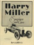 1929 ca. Harry Miller Engines and cars repro 8.5″×11″ Front cover