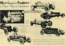 1929 ca. Harry Miller Engines and cars repro 8.5″×11″ page 1 & Inside front cover