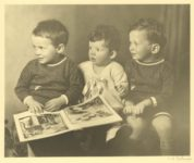 1935 ca. Three cute boys looking to their right C. H. Wiebuer photo 8″×6.5″