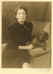 1939 Woman and dachshund NORMAN VIKEN photo '39