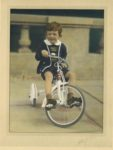 1939 ca. Cute boy on tri-cycle color PERRY HILTON photo 8.25″×11.25″