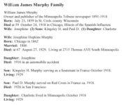 William James Murphy Family Minneapolis