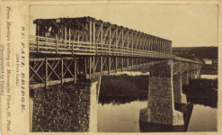 1859 ca. ST PAUL BRIDGE 1794 Feet Long Martin's Gallery CDV 4″×2.5″ front