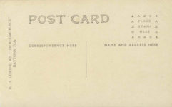 1909 ca. RENAULT WINNER 100 MILE RACETIME 72-56-14 RPPC back