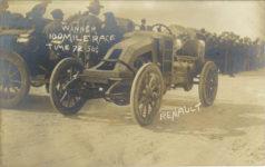 1909 ca. RENAULT WINNER 100 MILE RACETIME 72-56-14 RPPC front