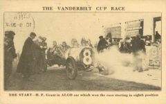 1910 2 THE VANDERBILT CUP THE START H.F. Grant in ALCO car which won the race starting in eighth position postcard front