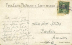 1910 ca. AN AUTO RACE postcard back