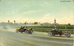 1910 ca. AN AUTO RACE postcard front