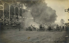 1910 ca. Line up for auto race RPPC front
