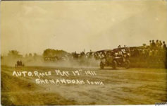 1911 5 17 Auto Races Shenandoah, IOWA eBay postcard front