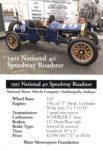 1911 National 40 Speedway Roadster trading card v1