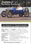 1911 National 40 Speedway Roadster trading card v4