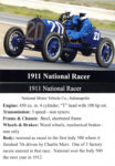 1911 National Racer trading card
