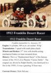 1912 Franklin Desert Racer trading card