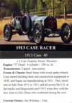 1913 Case 40 Racer trading card