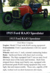 1915 Ford RAJO Speedster trading card