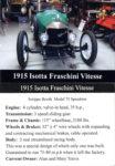 1915 Isotta Fraschini Vitesse trading card