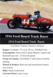 1916 Ford Board Track Racer trading card