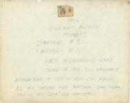 1916 Johnny Aitken PEUGEOT IMS 6408 Coburn Photo Indianapolis IND 10″×8″ photo back
